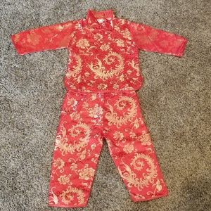 Childs Canzifang size 4 Asian Oriental 2 piece